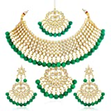 Sukkhi Trendy Kundan Gold Plated Wedding Jewellery Choker Necklace Set for Women (N73543_D1)