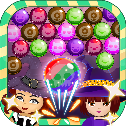 Witch Bubble Shooter - Halloween Scary Smiley