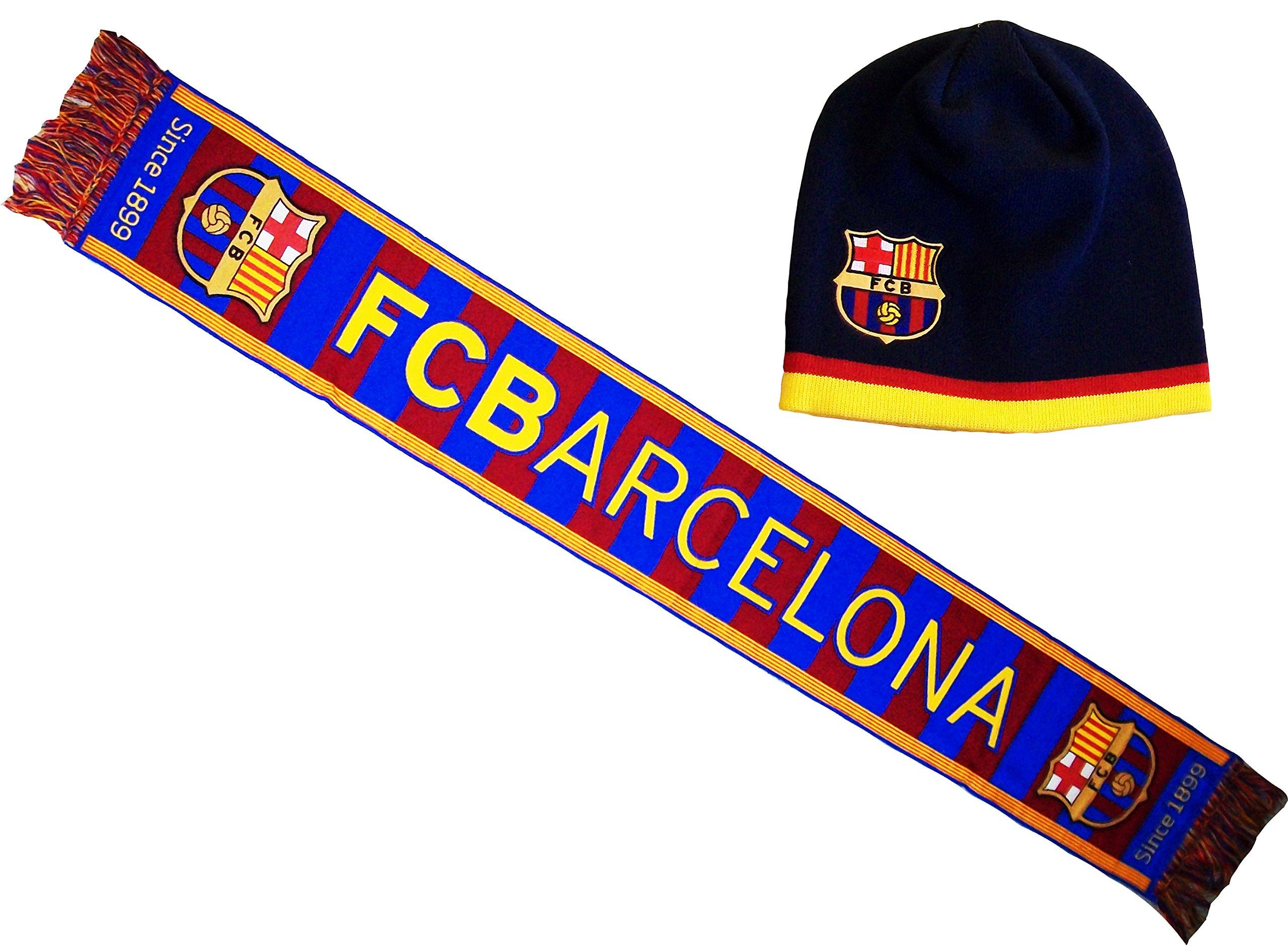 Sciarpa Barça, collezione ufficiale, FC Barcelona, Calcio di lega, Spagna
