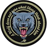 Copytec Patch A Wolf interesseert het niet wat schapen over hem denken uniform #30982