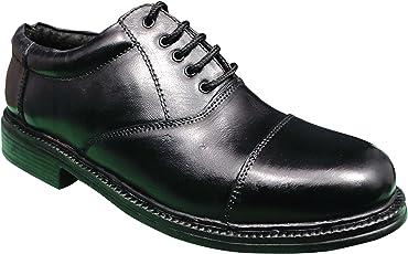 Commander Leather School Shoes (Black)