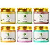 SOIE Herbal Bath Salt Set of 6 Epsom Salt {150 gm X 6 } (Rose & Geranium, Refreshing Lime,Tea Tree, Orange & Lemon Grass, Euc