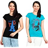 Fasha top for Women Tops for Girls Made up of 100% Cotton Combo of 2