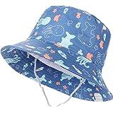 Tacobear Sombrero de Sol Bebé Verano Sombreros Pescador ala Ancha Algodón Gorra con Protección Solar Anti-UV Gorro de Playa p
