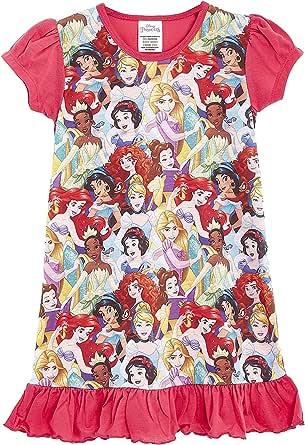 Disney Princess Girls' Nighties with Lion King, Aladdin, Cinderella, Paw Patrol, Little Mermaid | Official Product Kids Princesses Nightdress, Nightwear, Clothing