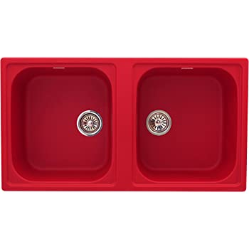Red Double Kitchen Sink on bright colored cast iron sink, red double windows, red chest of drawers, cast iron undermount double sink, red ceramic kitchen sinks, red porcelain sink, red toilet, red undermount kitchen sink, red double doors, red double fridge, top mount farm sink, red deep kitchen sink, red cast iron kitchen sinks, red bowl sink, butterfly-shaped honey onyx sink, red kitchen sink hair products, red bathroom, red apron sink,
