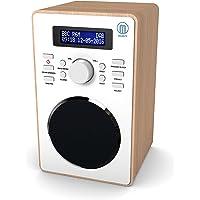 Barton II DAB/DAB+ Digital FM UKW Radio, Dualer Radiowecker, Sleep und Schlummer-Funktion (Eiche)