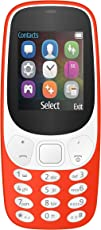IKALL K3310 Dual Sim Mobile With Money Detector Light (Red)