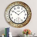 Craftel Metal Wall Clock (18 x 18 inch, Brown)