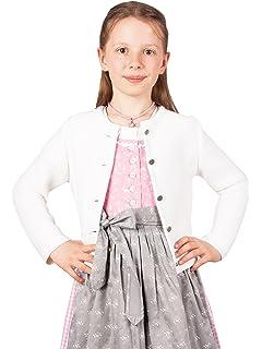 Freebily M/ädchen Bolero J/äckchen Festlich Blumen Bolerojacke Kinder Langarm Satin Schulterjacke zum Kommunionkleid Hochzeit Partykleid