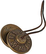 ShalinIndia Tibetan Chime Cymbal Bell Buddhist Musical Instrument, 2.75 Inch