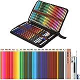 56PCS Crayons Aquarellables, Ensemble de 48 Crayons de Couleur Aquarelle avec 3 Crayons 2B et des Petites Accessoires, Crayon