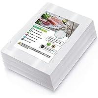 Sac Sous Vide Alimentaire de 100 Sacs 15 x 25cm Sacs Sous Vide Pack, sans BPA, LFGB, pour Conservation des Aliments, la…