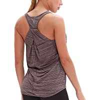 icyzone Workout Tank Tops for Women - Loose Sport Yoga Tops, Womens Racerback Vest Top
