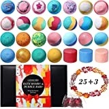 Bath Bombs Gift Set, Lagunamoon Handmade Bath Bombs, Bubble Bar for Bubble Baths, Highly Concentrated with Pure Essential Oil