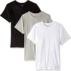 Calvin Klein Men's Cotton 3-Pack Classic Short-Sleeve Crew Neck T-Shirt