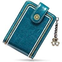SENDEFN Porta Carte di Credito Pelle per Donna,Genuino del Titolare della Carta in Pelle RFID Schermato Portafoglio…