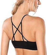 CRZ YOGA Donna Reggiseno Sportivo Leggero Strappy Yoga Bralette