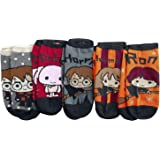 Harry Potter Chibi Mujer Calcetines Multicolor, 98% poliéster, 2% elastán,