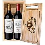 Cassetta 2 bottiglie: Bordeaux Supérieur La Réserve Château Picon e Bordeaux Château Pericou Maison Le Star 0,75 L, Cassetta