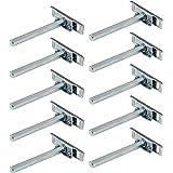 Gedotec Clever Plankdrager voor plankdrager, hout, verzinkt staal, SW 10 x 100 mm, verborgen plankdragers voor wandmontage, 1