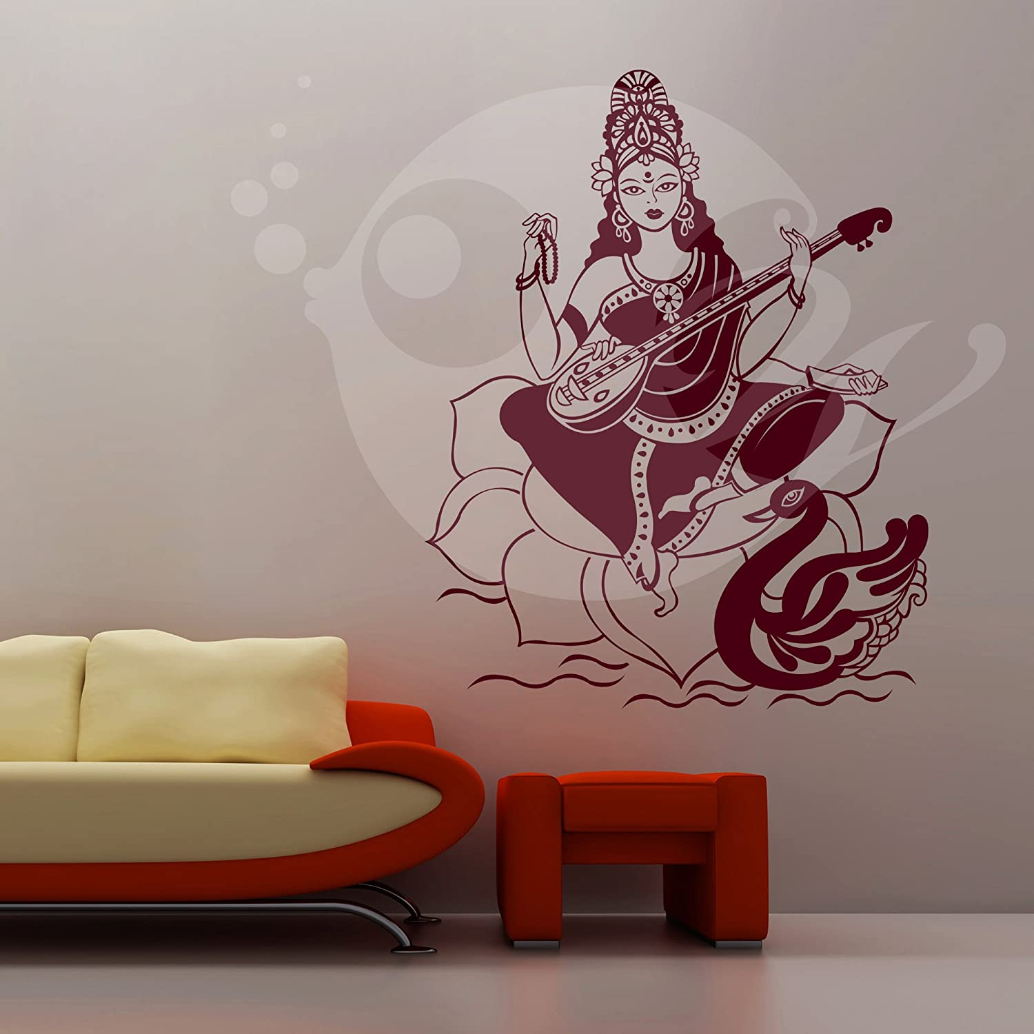 Buy maa saraswati wall sticker decal online at low prices in india buy maa saraswati wall sticker decal online at low prices in india amazon amipublicfo Gallery
