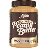 Alpino Coconut Peanut Butter Smooth 1 KG | India's 1st Coconut Peanut Butter | Made with Roasted Peanuts & Goodness of Coconu
