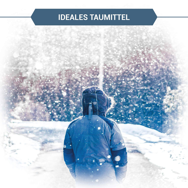 Esco Streusalz Winter 10 kg I Auftausalz gegen Schnee und Eis I Eimer mit Handschaufel I Streugut für Winterdienst/Räumpflicht I Tausalz als Winterstreu gegen Glätte