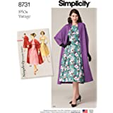 Simplicity Misses' 1950S Vintage Dress & Lined Coat-14-16-18-20-22