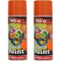 Touch-up Aerosol Ready-to-Use Car Bike Spray Painting Home and Furniture Spray Paint, 400 Ml, Orange - Pack of 2