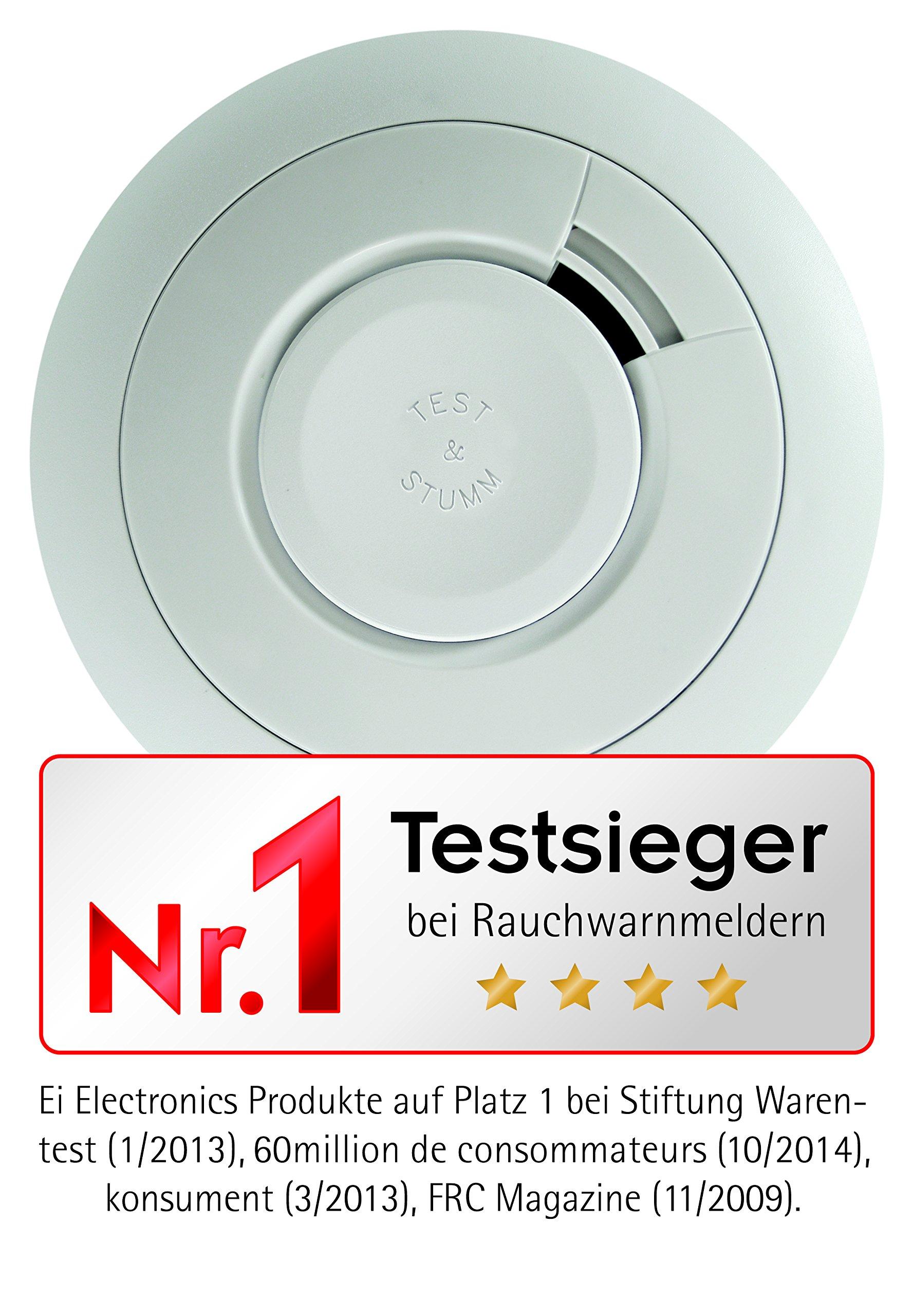 Ei Electronics Ei650 10-Jahres-Rauchwarnmelder, Testsieger Stiftung-Warentest, 1 Stück