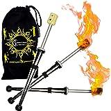 Pro Feuer Jonglierball Set mit 3 /& Brennstoffflasche 3X Feuer Jonglierb/älle FyreFli Reisetasche. 68 mm