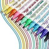 Stylos Contour, RATEL 12 couleurs Stylo Double Ligne Marqueur, Stylos de peinture acrylique , Stylos de double contour pour É