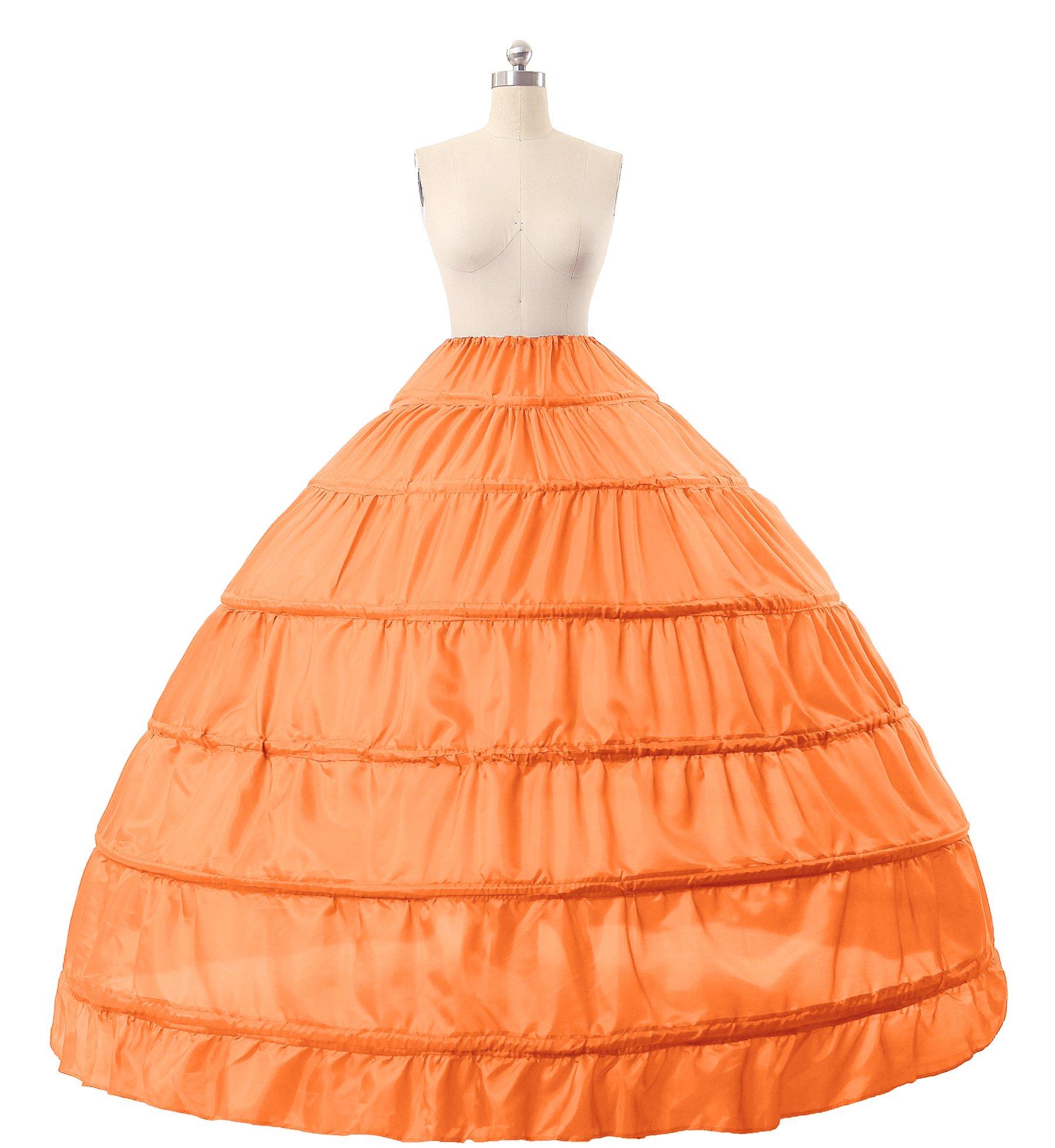 BEAUTELICATE Sottogonna Petticoat Donna Gonna Lunga 6 Cerchio Crinolina Rockabilly Vintage Sottoveste per Vestito Abito… 2 spesavip