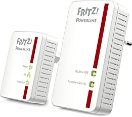 AVM FRITZ!Powerline 540E / 510E WLAN Set  (500 MBit/s, WLAN-Access Point, Fast-Ethernet-LAN), deutschsprachige Version