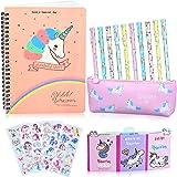 25 Piezas Estuche Unicornio Set de Papelería Bolígrafos y Cuaderno Libreta de Notas, Regalos de Unicornio para Niñas Niños 6