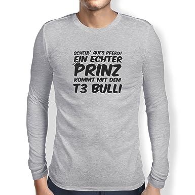 Shoppen Sie TEXLAB - Ein echter Prinz kommt mit dem T3 Bulli - Herren Langarm  T-Shirt auf Amazon.de:T-Shirts