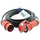 CEE-verlengkabel krachtstroomkabel rubberen verlenging H07RN-F 5G 2,5mm² 400V 16A 10 meter van Kalle DAS kabel