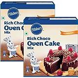 Pillsbury Oven Cake Mix, Rich Choco, 285 g, Pack of 2