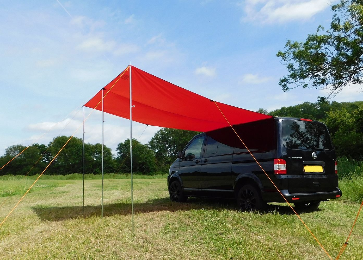 Debus Campervan Sun Canopy Awning - Chianti Red