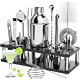 RATEL Cocktail Shaker Set, 18 Pezzi Set Professionale per Cocktail Shakers Bar per Feste Accessori Essenziali per Barman Kit