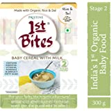 PRISTINE 1st Bites Stage 2 Organic Baby Cereal with Milk, Rice and Dal, 8 Months to 24 Months, 300g