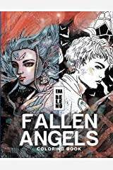 Fallen Angels Coloring Book for Adult: Angels, Broken Wings, Feathers, Angels on Earth, Fantasy, Whimsical, Stress Relieving Coloring Book for Adult Taschenbuch