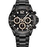 Stührling Original orologio cronografo da uomo, in acciaio INOX, con vite, corona e resistente all' acqua 100 m. quadrante an