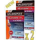 VALDISPERT - Complexe Favorisant l'ENDORMISSEMENT - Mélatonine 1.9 mg - 4 ACTIONS: ENDORMISSEMENT # RELAXATION # DIMINUTION d