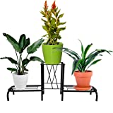 D&V ENGINEERING - Creative in innovation Metal Indoor/Outdoor 3 Pot Stand/Plant Stand for Home/Garden Decor, 85cm-Wide…