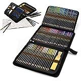 Matite Colorate da Disegno Professionali, Set da 96 Pezzi Kit Arte per Schizzo e Disegno con Matite Grafite e Carboncino per