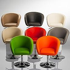 Duhome Elegant Lifestyle Sessel Höhenverstellbar Esszimmerstuhl Kunstleder  Clubsessel Coctailsessel Lounge Sessel Farbauswahl   Typ 440