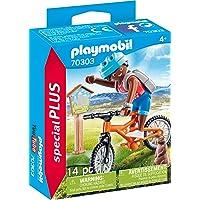 Playmobil Cycliste avec marmotte Multicolor 70303