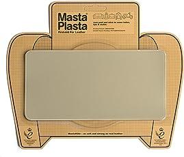 "MastaPlasta, Leather Repair Patch, First-Aid for Sofas, Car Seats, Handbags, Jackets, Plain, Beige Medium Stitch 8""x4"""